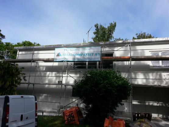 Utförd fasadrenovering fasadputs Bromma
