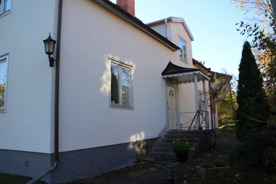 Renoverad fasadputs Vinghästvägen Bromma Stockholm
